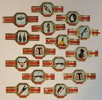 Lot De 15 Bagues De Cigare Cogetama Thème Vie Des Indiens Sioux Apache Cheyenne Indianen Leven - Cigar Bands