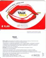 GREECE - Talk Talk, Altec Prepaid Card 9 Euro(without Cutting), Exp.date 31/12/04, Sample - Greece