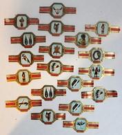 Lot De 19 Bagues De Cigare Cogetama Thème Vie Des Indiens Sioux Apache Cheyenne Indianen Leven - Cigar Bands
