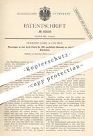 Original Patent - Hermann Janke , Cottbus , 1881 , Webstuhl Zur Herstellung Von Rohrdecken   Weben , Weber   Rohr !!! - Historical Documents