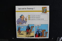 Fiche Atlas,TINTIN (extrait De, Le Crabe Aux Pinces D'or) - Peuples Du Monde, N°48  Qui Sont Les Touaregs ? - Sammlungen
