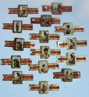 Lot De 14 Bagues De Cigare Cogetama Thème Les Indiens Sioux Apache Cheyenne - Bagues De Cigares