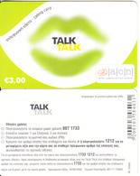 GREECE - Talk Talk, Altec Prepaid Card 3 Euro(without Cutting, Matt Surface), Exp.date 30/06/06, Sample - Greece