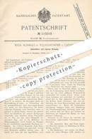 Original Patent - Wilh. Schmidt , Wilhelmshöhe / Kassel , 1898 , Überhitzer Mit Heizung   Feuerung , Dampfmaschine !!! - Historical Documents