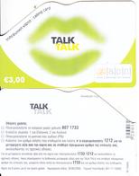 GREECE - Talk Talk, Altec Prepaid Card 3 Euro(matt Surface), Exp.date 30/06/06, Sample - Greece