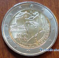 2 Euro AUSTRIA Commemorativo 2018 ANNIVERSARIO REPUBBLICA Commemorative ANNIVERSARY REPUBLIC Autriche Osterreich FDC UNC - Austria