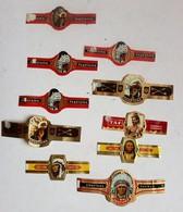Lot De 10 Bagues De Cigare Cogetama Et TAF Thème Les Indiens Sioux Apache Cheyenne - Cigar Bands