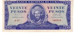 Cuba P.97b   20  Pesos 1964   Xf -au - Cuba