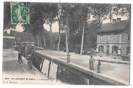 SAINT-LAURENT BLANGY - L'écluse (vue Animée : Ouvrier Réparant Le Quai) - Saint Laurent Blangy