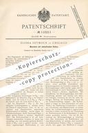 Original Patent - Elisha Seymour , Chicago , Maschine Mit Umlaufenden Kolben   Motor , Motoren   Dampfmaschine !!! - Historical Documents