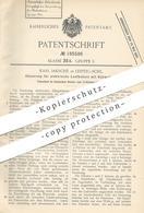 Original Patent - Karl Jaksche , Leipzig , 1905 , Steuerung Für Elektr. Laufkatze Mit Hubwerk   Hängebahn   Bahn !!! - Historical Documents