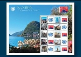 2018 - O.N.U. / UNITED NATIONS - GINEVRA - FOGLIO FRANCOBOLLI PERSONALIZZATI - NABA LUGANO. MNH - Geneva - United Nations Office