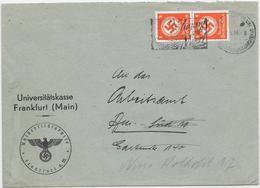 DR Dienst Brief Mef. Mi.D170 17.5.44 Frankfurt A.Main + NS Stempel Uiniversitätskasse - Officials