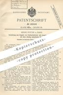 Original Patent - Henry Pottin , Paris , Frankreich , 1905 , Kuppeln Von Fahrkartendrucker   Fahrkarten Ausgabe   Billet - Historical Documents