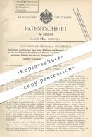 Original Patent - Filip John Bergendal , Stockholm Schweden 1905 , Gemisch Von Brenngas U. Verbrennungsluft   Gas , Ofen - Historical Documents