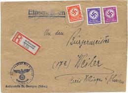DR Dienst Briefausschnitt Reco St.Georgen Schwarzwald Mif. Mi. D 169,170, 176 - Officials