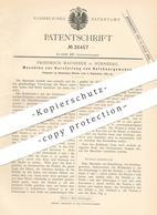 Original Patent - Friedrich Maussner , Nürnberg , 1883 , Herstellung Von Rosshaargewebe   Rosshaar - Gewebe   Pferdehaar - Historical Documents