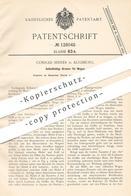 Original Patent - Conrad Sinner , Augsburg , 1900 , Bremse Für Wagen   Bremsen   Kinderwagen , Kutsche , Rollstuhl !!! - Historical Documents