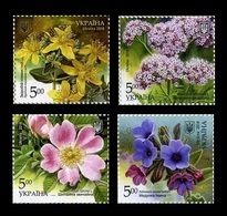 Ukraine 2018 Mih. 1700/03 Flora. Medicinal Plants MNH ** - Ucrania