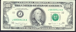USA 100 Dollars 1990 J UNC - Rare # P- 489 J - Kansas City MO  ! Super Price! - Federal Reserve Notes (1928-...)