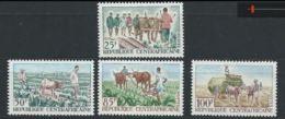 Centrafrique YT 43-46 XX / MNH - Centrafricaine (République)