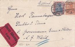 3 Karten, Deutsches Reich 1922 / 1923 - Lettres & Documents