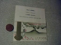 Publicitee Parfums Mini  Calendrier   Eau De Cologne  Pompeta De Piver Annee 1958 - Calendriers