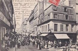 PARIS VII° Rue SAINT DOMINIQUE Angle Jean NICOT Animation Commerces MOTO NAPHTA CAFE BAR Au Fond La TOUR EIFFEL - Distretto: 07