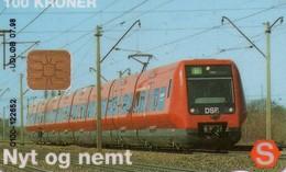 TARJETA TELEFONICA DE DINAMARCA. DSB S-TRAIN, DD122B, TIRADA 10050. (044) - Trains