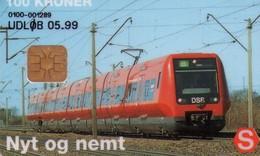 TARJETA TELEFONICA DE DINAMARCA. DSB S-TRAIN, DD164-A2, TIRADA 31006. (045) - Trains