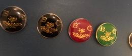 Lot De 4 Pins Police Brigade Criminelle - Badges