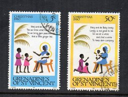 Grenadine E St. Vincent - 1980 - Natale - 2 Valori - Usati - (FDC12050) - St.Vincent E Grenadine