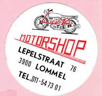 Sticker - MOTORSHOP - Lepelstraat 76 - Lommel - Stickers