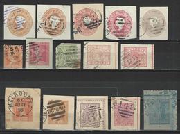 15 Ganzsachenausschnitte / Cuts From Postal Stationery - 1850-1912 Victoria