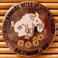 Joli Pin's Rugby Sanglier AnimalRites Of Spring Rugby, Baltimore, émail Grand Feu, TBQ, Pins Pin. - Rugby