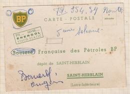 8AK2967 CARTE COMMERCIALE BP SOCIETE FRANCAISE DES PETROLES ST HERBLAIN  2 SCANS - Italie