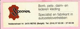Sticker - Spooren - Veldenstraat Retie - Bont,Pels,Daim En Lederkleding - Stickers