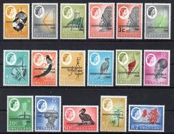 "Swaziland 1968 MiNr. 139/ 155    **/ Mnh ; Freimarken Aufdruck/ Overprint  "" Independence 1968"" - Swaziland (1968-...)"