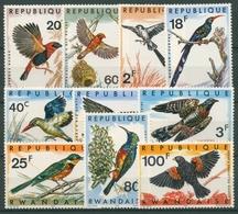 Ruanda 1967 Vögel Kuckuck Nektarvogel Senegalfischer 249/58 A Postfrisch - Rwanda