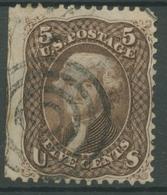USA 1861 Präsident Thomas Jefferson 19 X Gestempelt, Dünne Stelle - 1847-99 General Issues