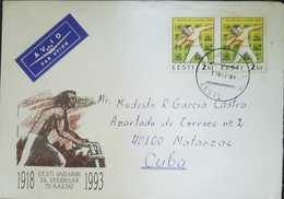 O) 1993 ESTONIA, WAR OF INDEPENDENCE, FIRST SEA GAMES- SHOT PUT WITH ROCK, TO CARIBE, XF - Estonia