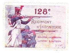 Vignette Militaire Delandre - 128ème Régiment D'infanterie - Vignettes Militaires