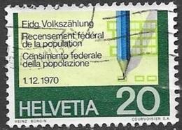 1970 20c Census, Used - Switzerland