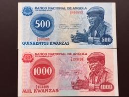 ANGOLA P116-117 500-1000 KWANZAS 1975.1979 AUNC.UNC - Angola