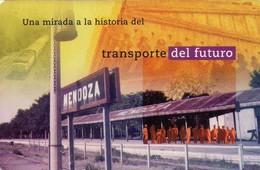 TARJETA TELEFONICA DE ARGENTINA. VISTA DE ANDENES DE LA ESTACIÓN MENDOZA, TLF-F107-2A, (047) - Trains