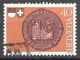 1981 40c Freiburg, Used - Switzerland