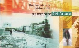TARJETA TELEFONICA DE ARGENTINA. TREN DE PASAJEROS EN LA ESTACIÓN 9 DE JULIO, TLF-F116-2A, (048) - Trains