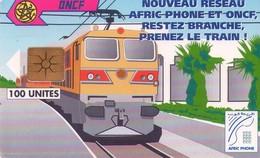 TARJETA TELEFONICA DE MARRUECOS. TREN, MOR-AP-6. (050) - Trains