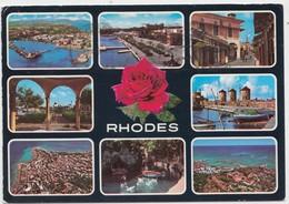 RHODES, Greece, Multi View, 1983 Used Postcard [21918] - Greece