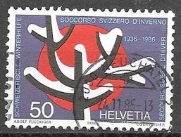 1986 50c Winter Relief, Used - Switzerland